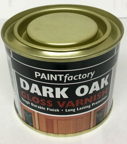 1 x Dark Oak Gloss Varnish All Purpose Household DIY Paint 170ml Can!!