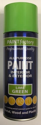 1 x 400ml All Purpose Lime Green Gloss Spray Paint Household Car Plastic