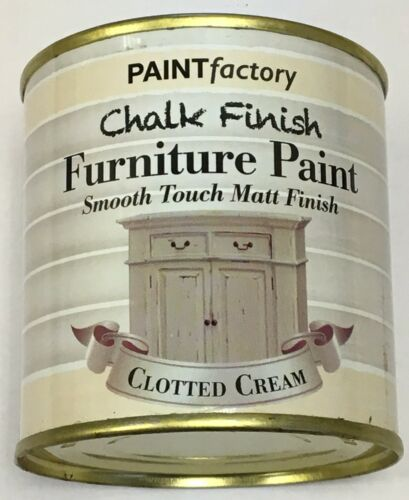 1 x 650ml Shabby Chic Effect Chalk finish Furniture Paint Clotted Cream