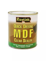 RUSTINS 1 LITRE MDF CLEAR SEALER QUICK DRYING FOR PAINTS AND VARNISHES
