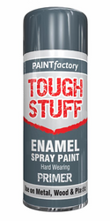 2 X Enamel Grey Primer Paint Spray Aerosol 400ml Radiator Metal Wood Etc. Tough