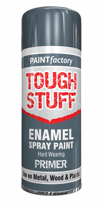 3  X Enamel Grey Primer Paint Spray Aerosol 400ml Radiator Metal Wood Etc. Tough