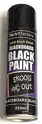 6 x BLACKBOARD Black Chalk Board Chalkboard Spray Paint Can Matt School Aerosol