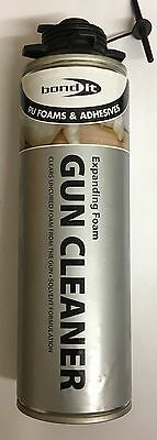 2 x BOND IT CONTRACTORS GUN GRADE PU FOAM CLEANER 500ML AEROSOL CAN  EXPANDING