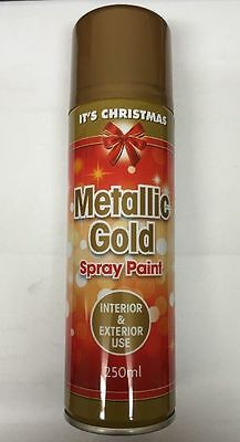 1 X metallic gold spray paint Interior/Exterior All Purpose Xmas Design