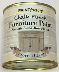 4 x 250ml Shabby Chic Effect Chalk finish Furniture Paint Clotted Cream