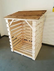PINE TIMBER FLAT PACKED OUTDOOR LOG STORE 900 X 800 X 1200