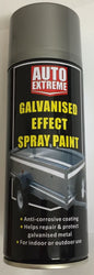 2 X Galvanised Silver Aerosol Spray Cans 400ml Car Auto Extreme Spray Paint