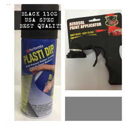 *FREE APPLICATOR* BLACK* PLASTIDIP PLASTI DIP RUBBER PAINT SPRAY AEROSOL 11OZ US