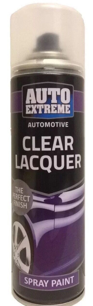 2 x 250ML Clear Lacquer Gloss Spray Paint Can Auto Extreme Car Bike New