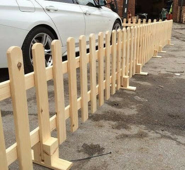 Event fencing, Grotto Fencing, Wooden Picket Fence, Free Standing 6ft x 2ft FREE DELIVERY