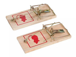 4 x FIXMAN 647990 Wooden Mouse Trap 2pk