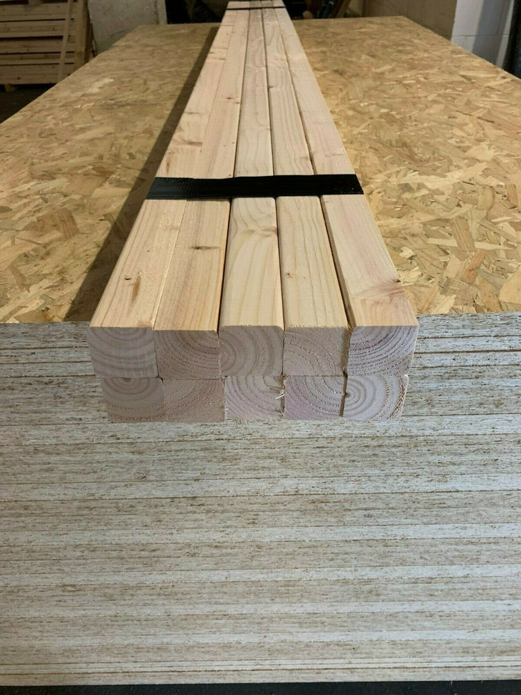 2X2 Planed Easy Edge Pine Timber 2x2 10 LENGTHS 2.4m 50mm x 47mm GREAT PRICE!