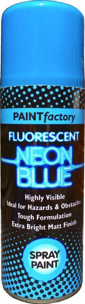 4 x 200ml Fluorescent Neon Blue Spray Paint Matt Creative Paint