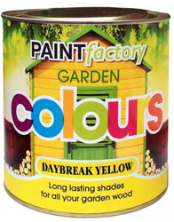Daybreak Yellow Lasting Shades Garden Paint Wood Shed Furniture 750ml