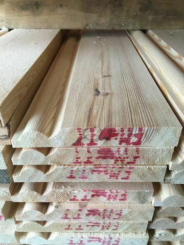PINE TIMBER TORUS SKIRTING 145X20 100 METERS
