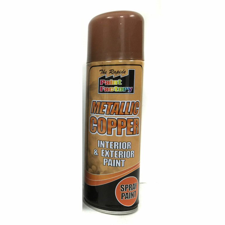 6 x Metallic Copper Spray Paint Interior & Exterior Spray Aerosol Can 200ml