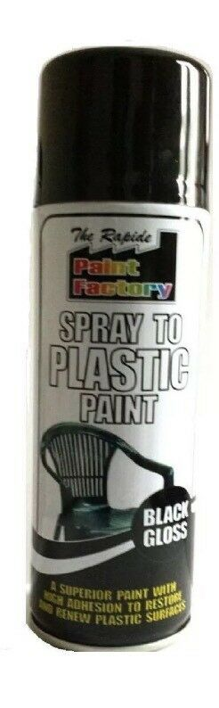 Spray To Plastic Spray Paint Black Gloss 8 X 200ml