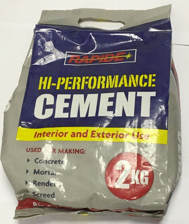 Cement 2kg Bag Interior & Exterior Concrete Mortar Render Screed