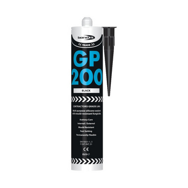 Bond It EU3 GP200 GENERAL PURPOSE LMA Silicone Sealant BLACK
