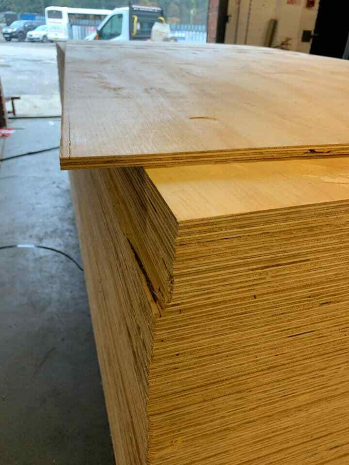 12MM SOFTWOOD SHUTTERING PLYWOOD 8FT X 4FT £17.50 A SHEET INC VAT