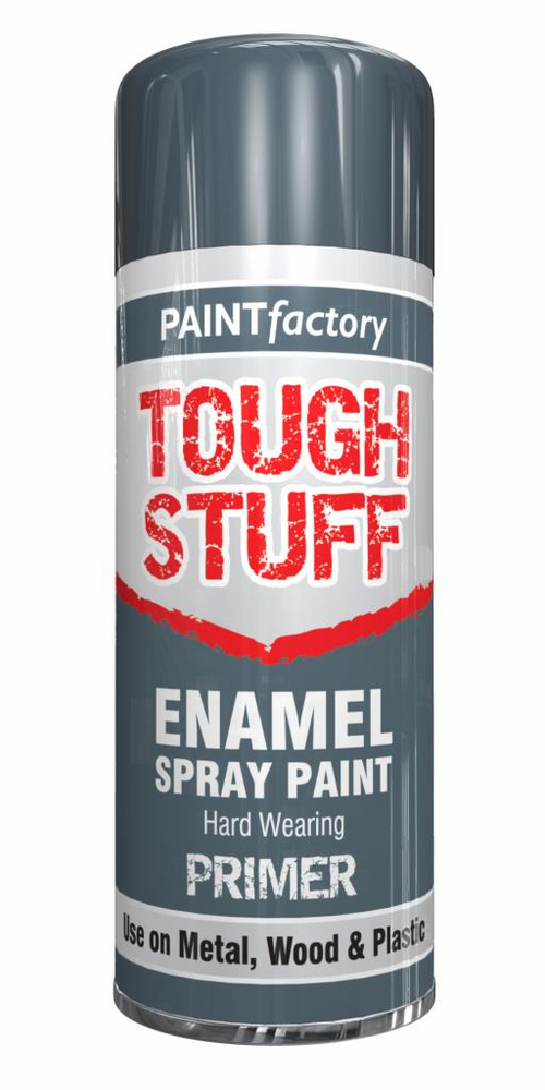 1  X Enamel Grey Primer Paint Spray Aerosol 400ml Radiator Metal Wood Etc. Tough