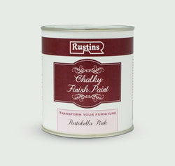 Rustins Chalky Finish 250ml Portobello Pink Cream Chalk Paint, Shabby Chic
