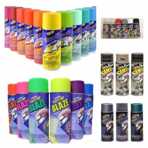 !NEW! PLASTIDIP PLASTIC / RUBBER PAINT SPRAY CANS AEROSOL 400ML ASSORTED COLOURS
