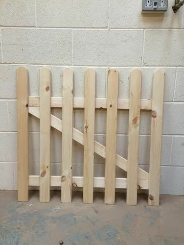 Wooden Picket Fence Gate- 3ftx2ft planed timber smooth finish