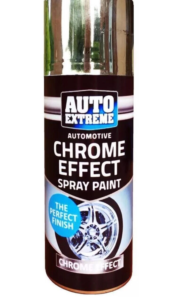 1 X Auto Spray Paint Chrome Silver Spray 400ml Cars And Vans