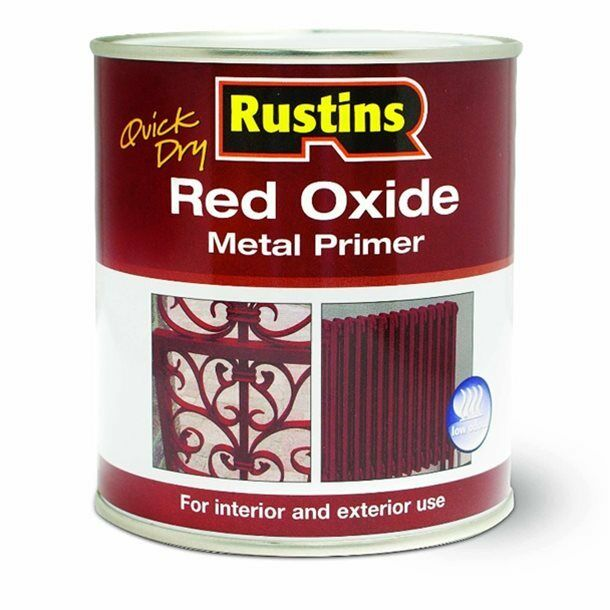 500ml RUSTINS RED OXIDE METAL PRIMER PAINT GATE INTERIOR EXTERIOR OUTDOOR
