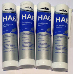 4 X Bond It - HA6 Marine Silicone Sealant - WHITE aquarium,fish tank sealer