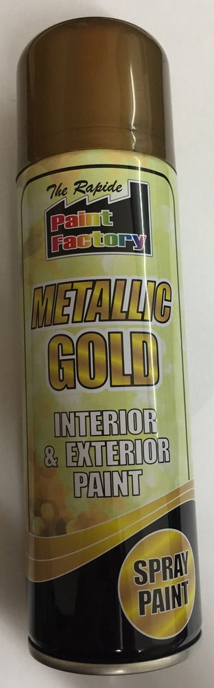 6 X metallic gold spray paint Interior/Exterior All Purpose 200ml