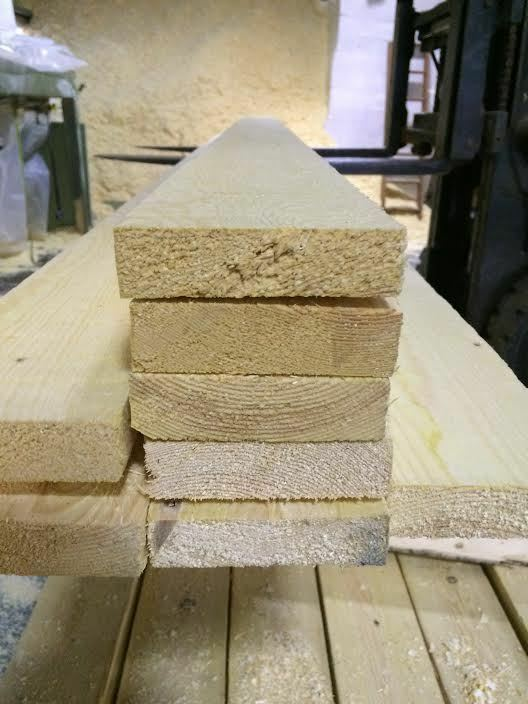 PINE TIMBER 4X1 ROUGH SAWN 100X25 50 METERS