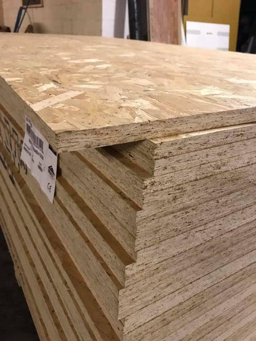 18MM OSB STERLING BOARD 8FT X 4FT £24 PER SHEET INC VAT