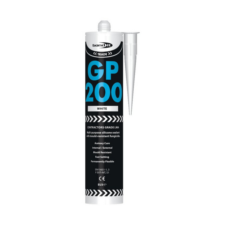 Bond It EU3 GP200 GENERAL PURPOSE LMA Silicone Sealant WHITE