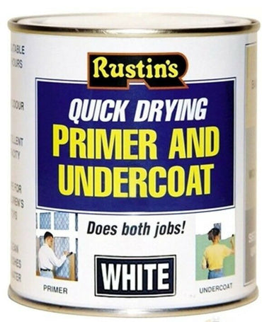 Rustins Quick Drying Wood Primer and Undercoat White - 250ml
