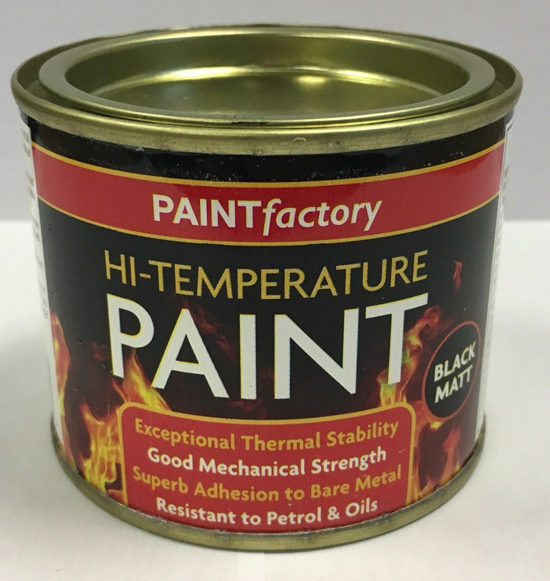 24 x 200ml Heat Resistant Matt Black Paint Stove High Temperature