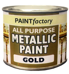1 x Metallic Gold All Purpose Household DIY Paint 170ml Can!!