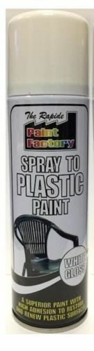 5 x Spray To Plastic Spray Paint White Gloss 250ml