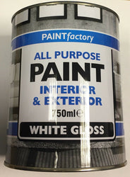 750ml Long Lasting White Gloss Paint Can Easy To Apply Indoor Outdoor Adhesion