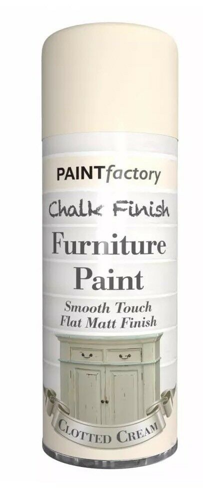 3x Clotted Cream Chalk Furniture Paint Spray Smooth Touch Matt Shabby Chic