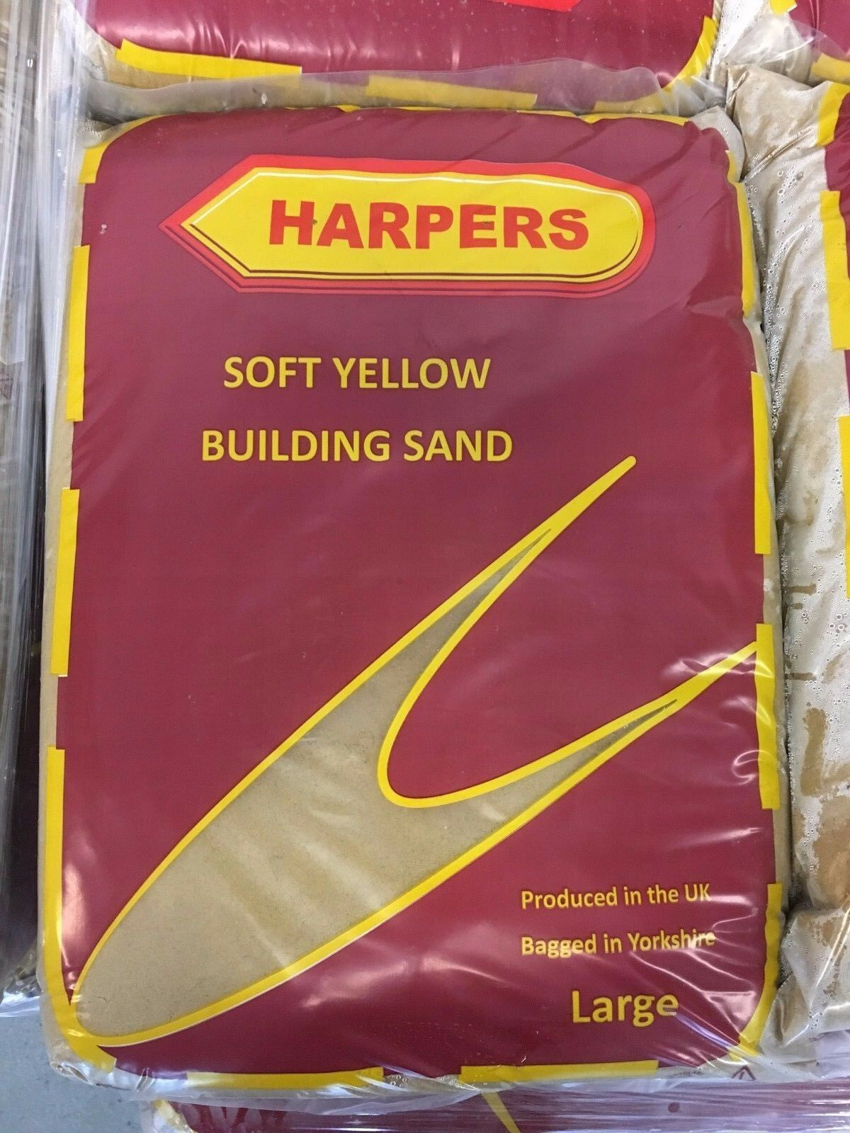 YELLOW BUILDING SAND 25KG BAG