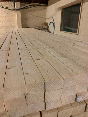 C16 TIMBER 3X2 PLANED EASY EDGE 75X47 4.8M £9.75 PER LENGTH INC VAT!