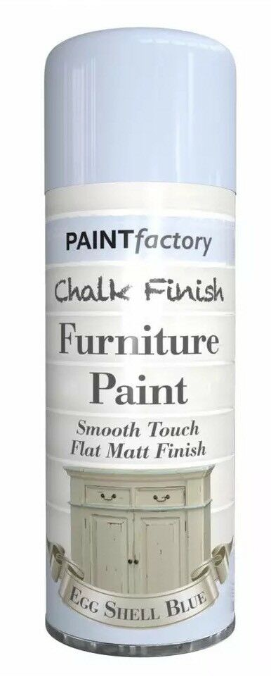 3x Egg Shell Blue Chalk Furniture Paint Spray Smooth Touch Matt Shabby Chic