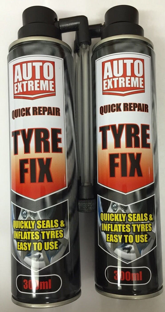 2 x Instant Quick Puncture Repair Car Tyre Fix Sealant Inflates In Seconds 300ml