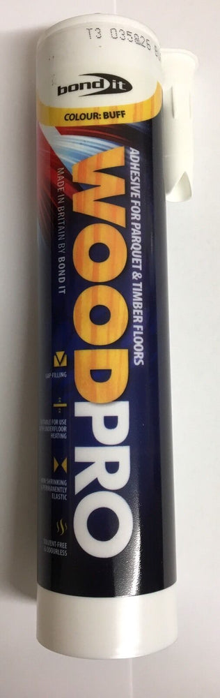 1 x  WoodPro Buff Colour Adhesive For Parquet & Timber Floors Internal Bond It