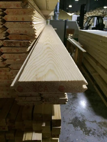 VGROOVE T&G PINE MATCHBOARD - 100 meters inc delivery in 2.4m lengths