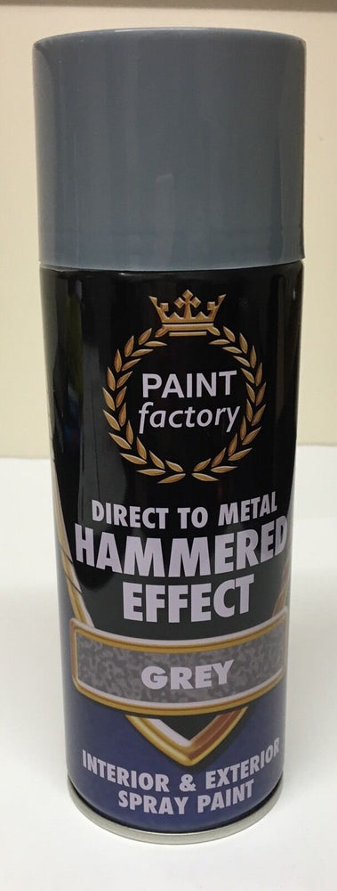 1 x Grey Hammer Effect Spray Paint Can Like Hammerite Metal Rust 400ml