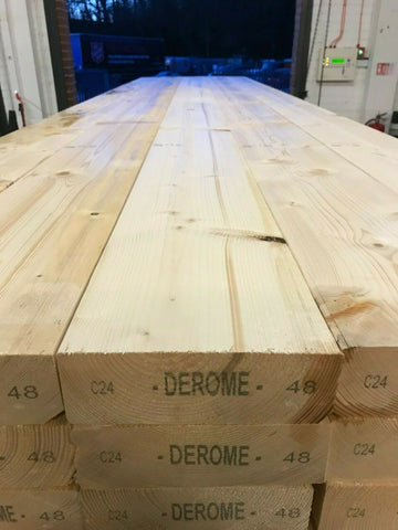 9x3 C24 TIMBER JOIST / BEAM 4.8M - 10 lengths just £240 INC VAT!
